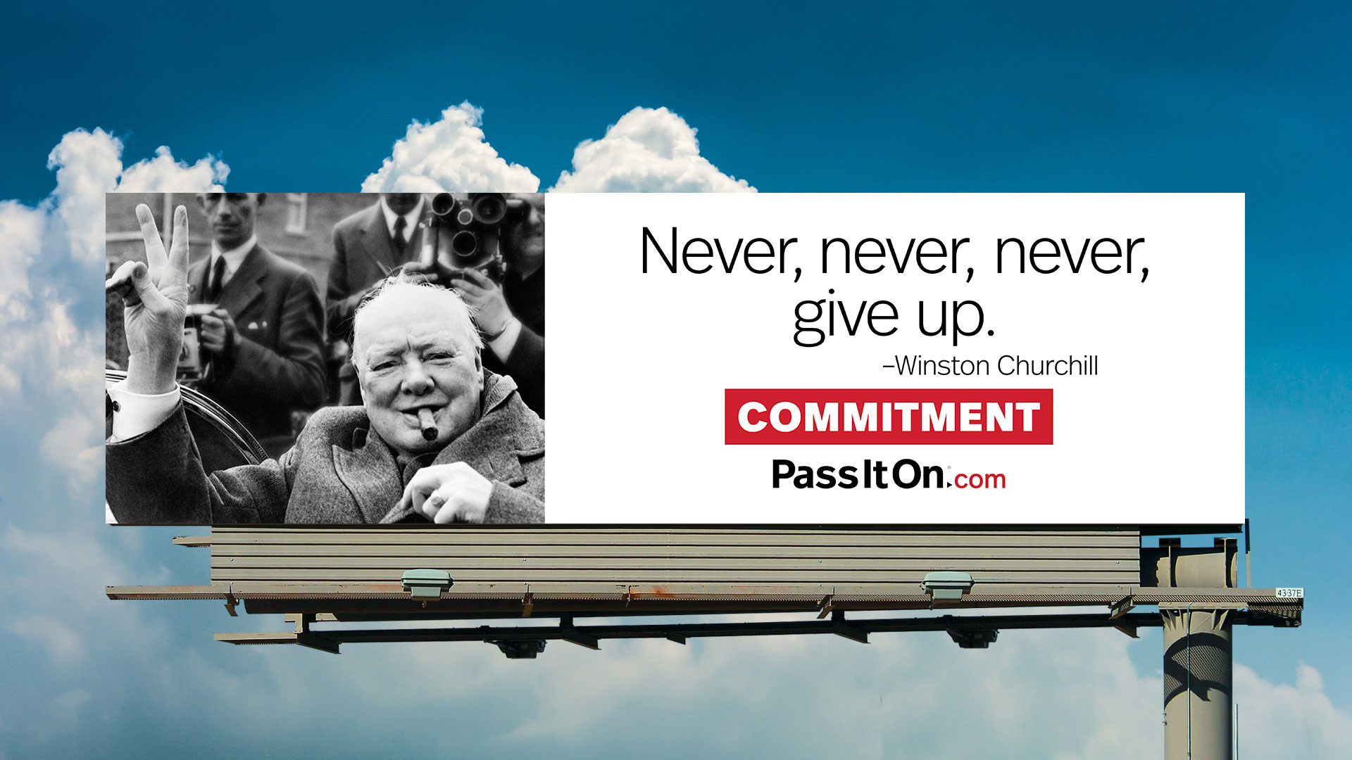 Commitment winston churchill