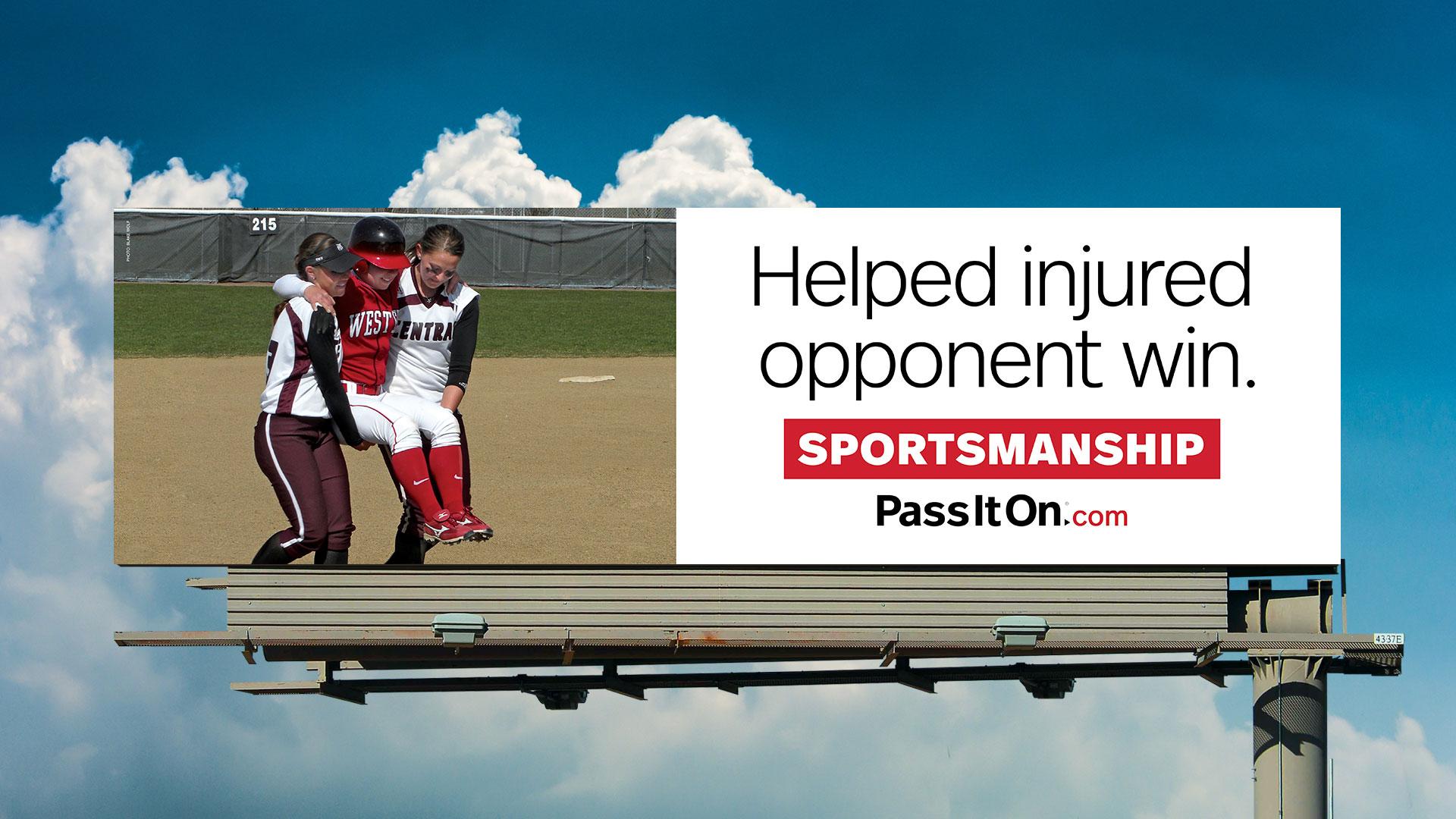 Sportsmanship softball