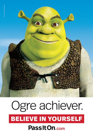 Believe in yourself shrek thumb