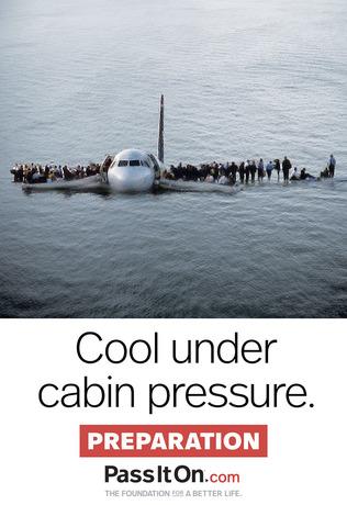 Cool under cabin pressure poster