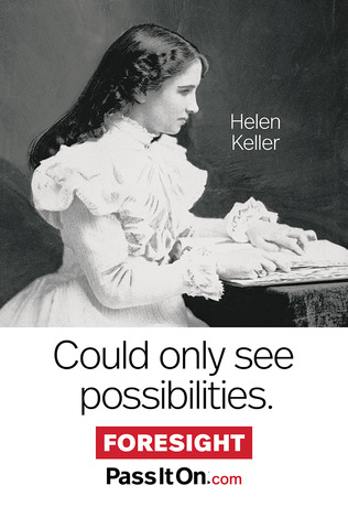 Foresight helen keller thumb