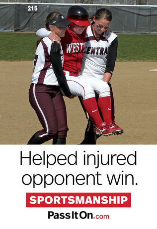 Sportmanship softball thumb