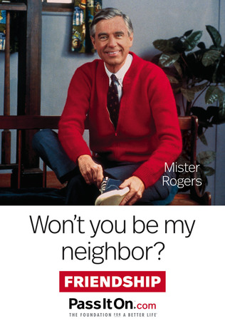 Wont you be my neighbor mr rogers friendship