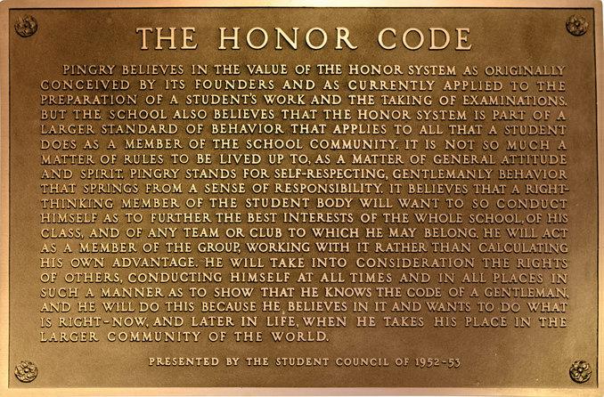 Honor code plaque3
