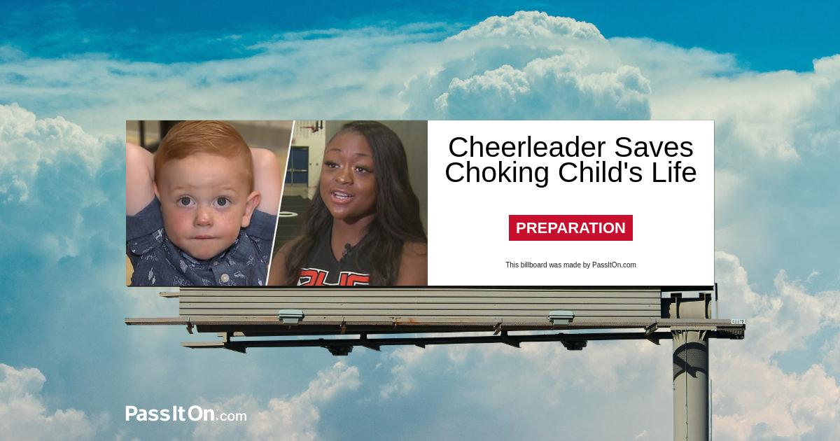 Cheerleader Saves Choking Child's Life