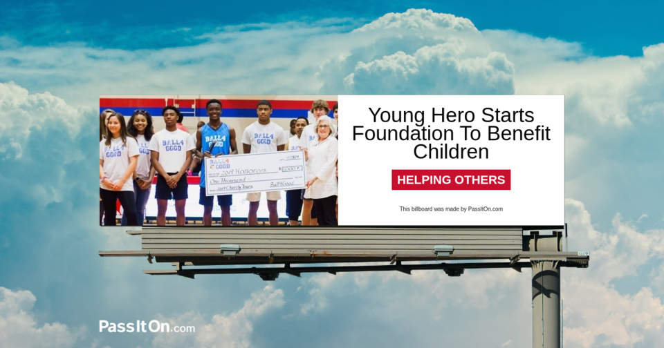 Young Hero Starts Foundation To Benefit Children