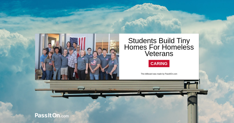 Students Build Tiny Homes For Homeless Veterans