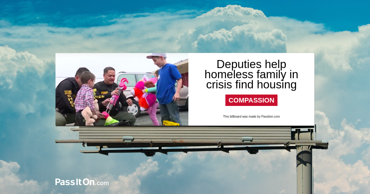 Deputies help homeless family in crisis find housing