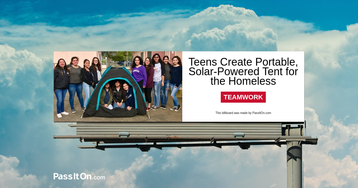 Teens Create Portable, Solar-Powered Tent for the Homeless