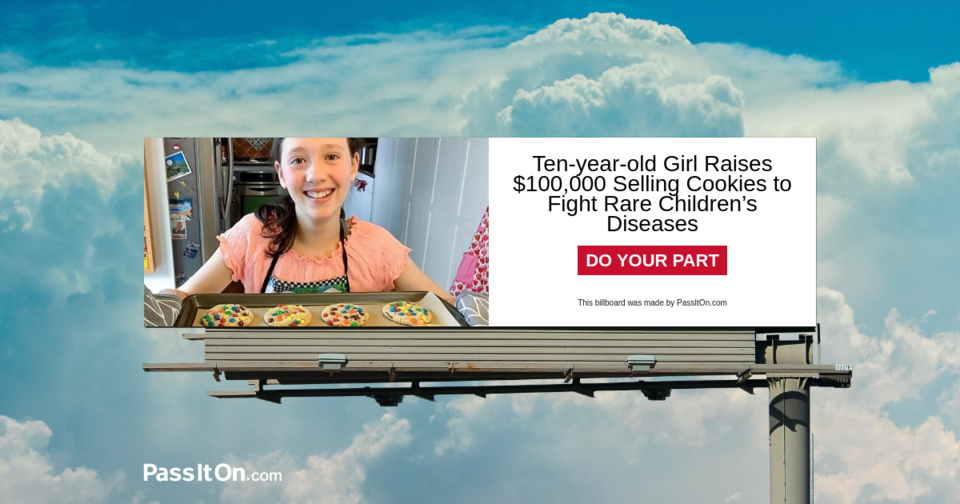 Ten-year-old Girl Raises $100,000 Selling Cookies to Fight Rare Children's Diseases
