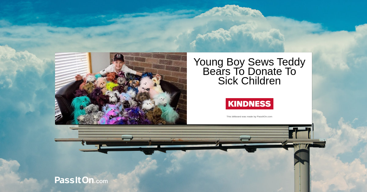 Young Boy Sews Teddy Bears To Donate To Sick Children