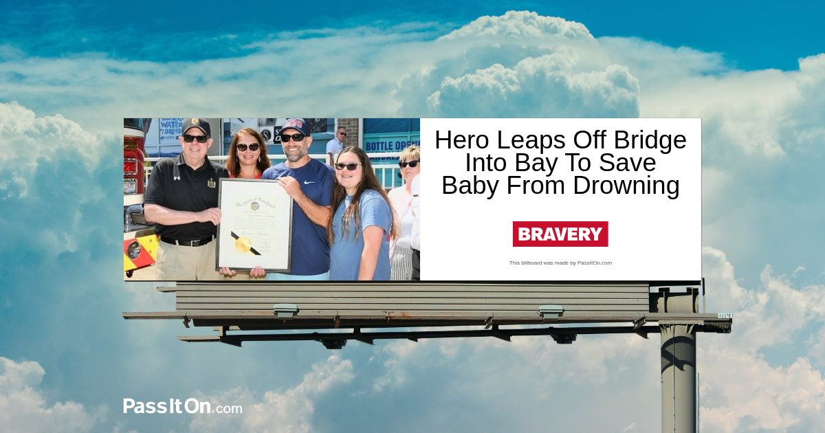 Hero Leaps Off Bridge Into Bay To Save Baby From Drowning