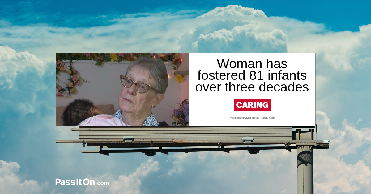 Woman has fostered 81 infants over three decades