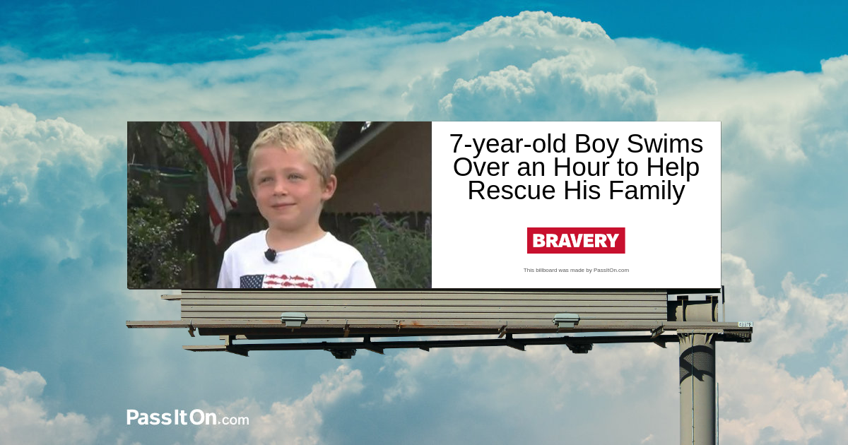 7-year-old Boy Swims Over an Hour to Help Rescue His Family
