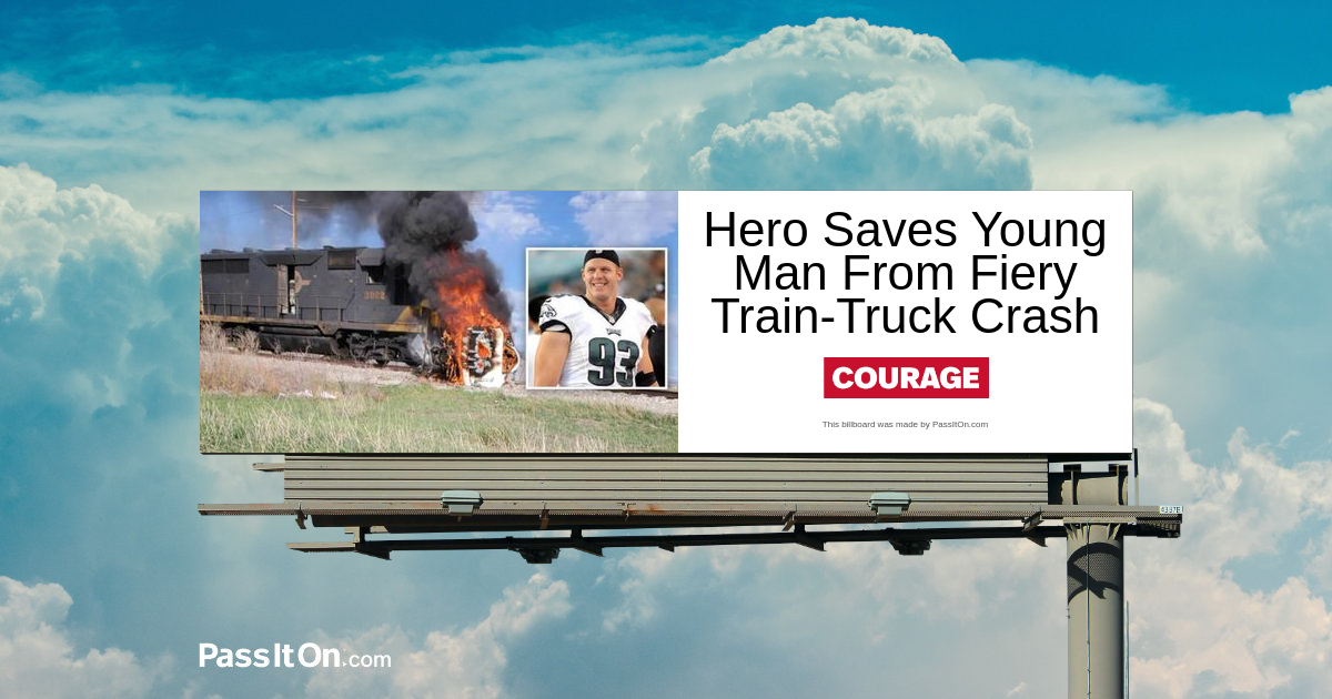 Hero Saves Young Man From Fiery Train-Truck Crash