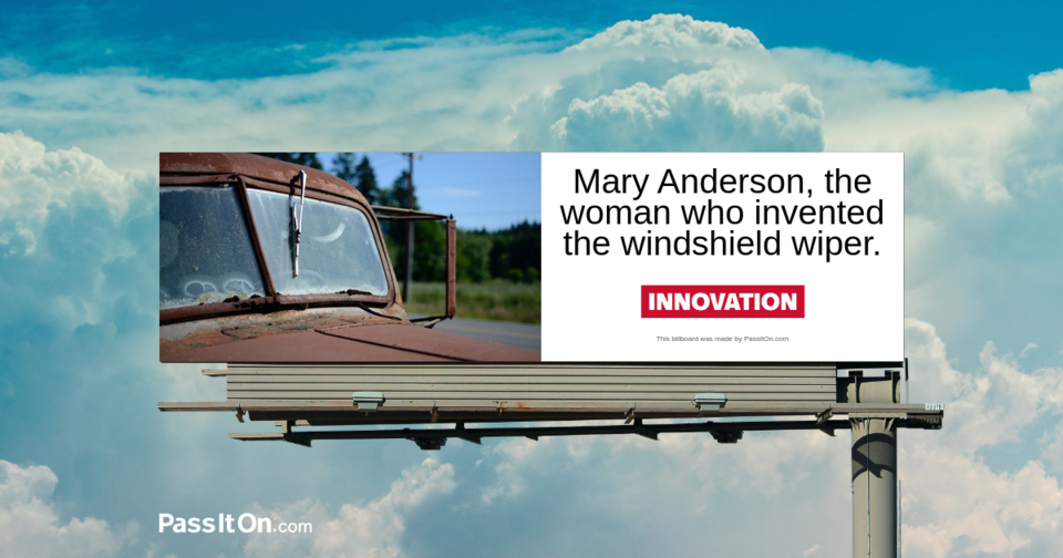 Mary Anderson, the woman who invented the windshield wiper