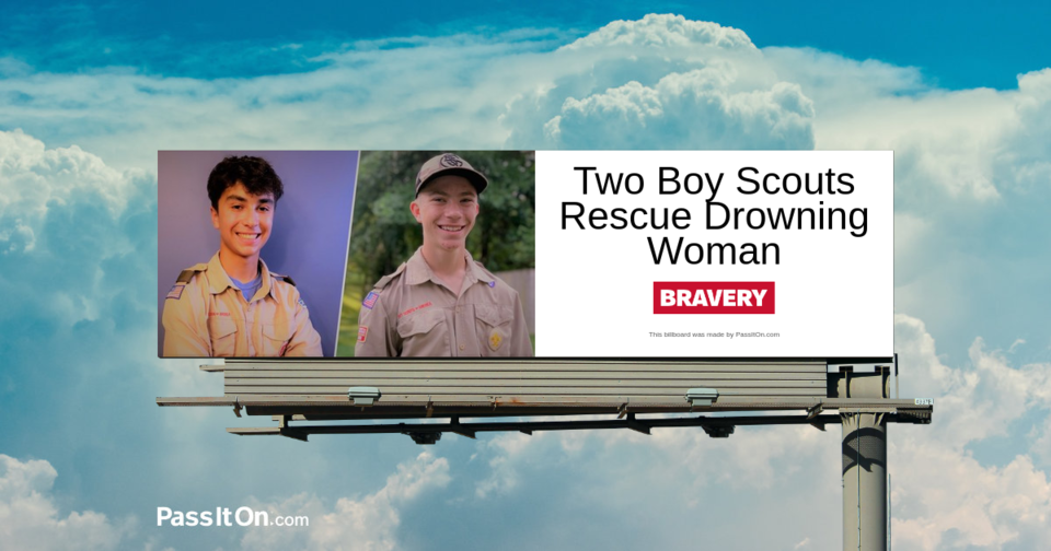 Two Boy Scouts Rescue Drowning Woman