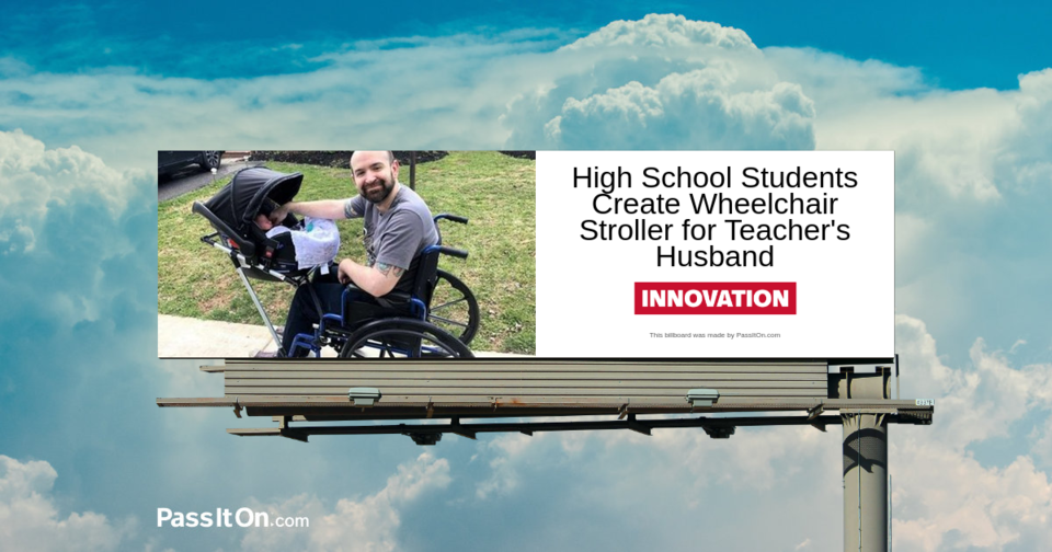 Teens Invent Wheelchair Stroller So Disabled Dad Can Take Newborn on a Walk