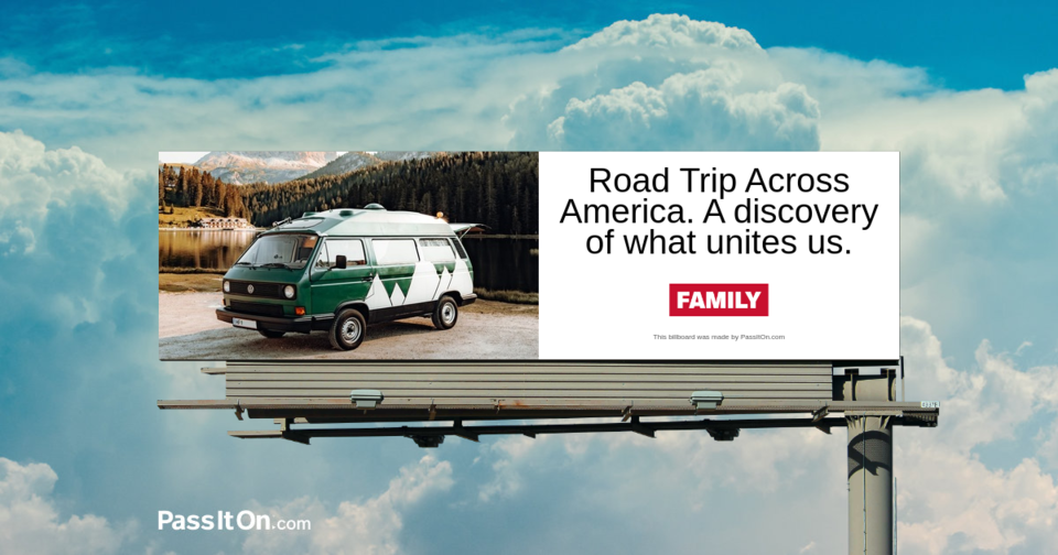 Road Trip Across America. A discovery of what unites us.