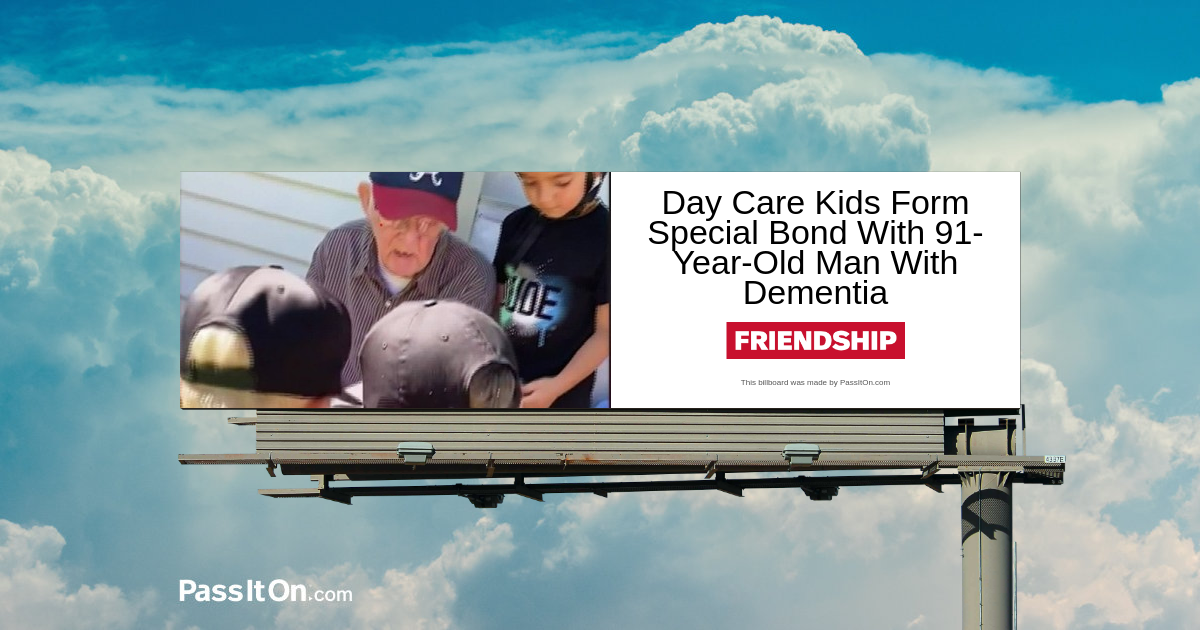 Day Care Kids Form Special Bond With 91-Year-Old Man With Dementia