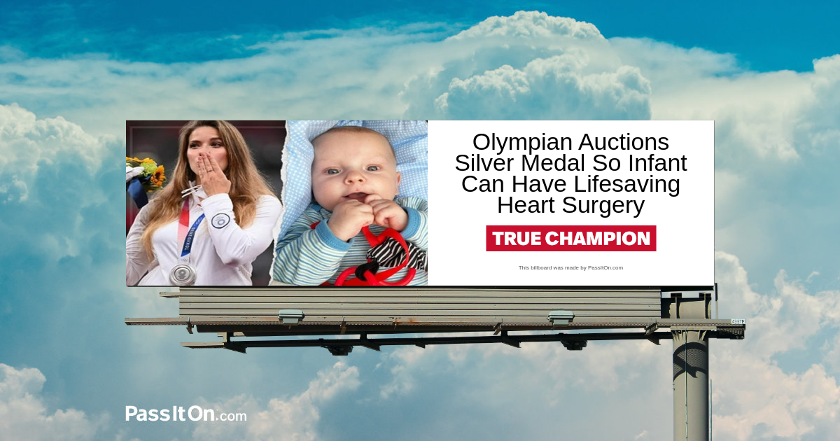 Olympian Auctions Silver Medal so Infant can have Lifesaving Heart Surgery