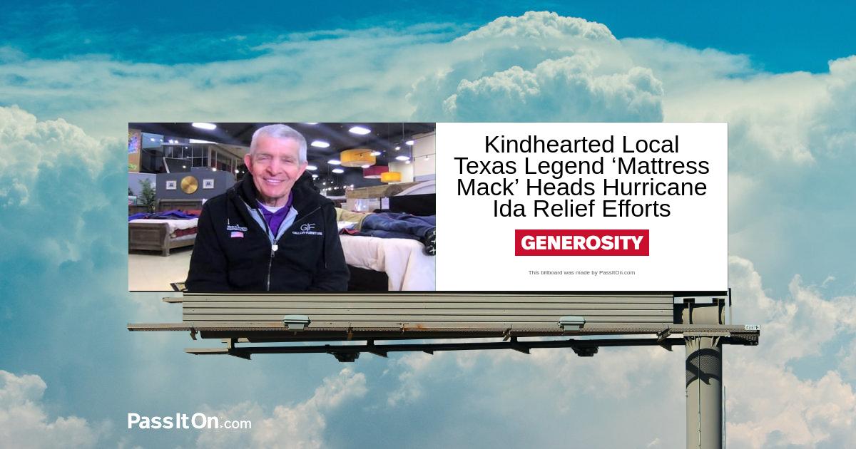 Local Texas Legend 'Mattress Mack' Heads Hurricane Ida Relief Efforts