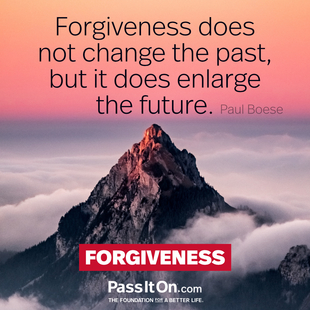 Forgiveness does not change the past, but it does enlarge the future. #<Author:0x00007f53adebe738>