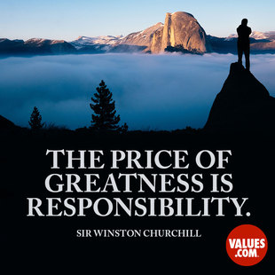 The price of greatness is responsibility. #<Author:0x00007f14e596c048>