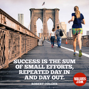 Success is the sum of small efforts, repeated day in and day out. #<Author:0x00007f44f1248528>