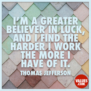 It seems the harder I work, the more luck I have. #<Author:0x00007ffb655b1040>