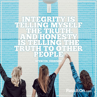 Integrity is telling myself the truth. And honesty is telling the truth to other people. #<Author:0x00007f44ef48e8e8>