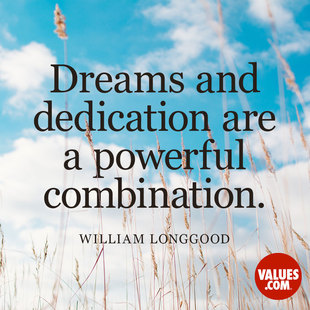 Dreams and dedication are a powerful combination. #<Author:0x00007f44f5e06e88>