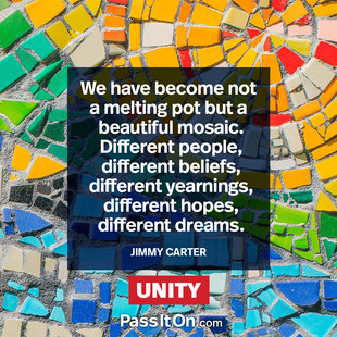 We have become not a melting pot but a beautiful mosaic. Different people, different beliefs, different yearnings, different hopes, different dreams. #<Author:0x00007f5e904b4998>
