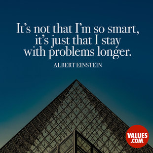 It's not that I'm so smart, it's just that I stay with problems longer. #<Author:0x00007fb4338ea910>