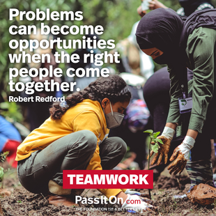 Problems can become opportunities when the right people come together.  #<Author:0x00007fcd468cb2f0>