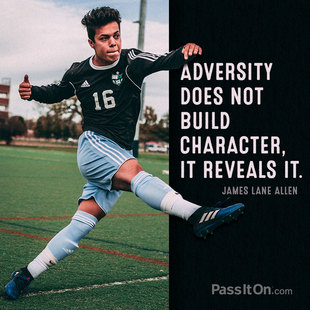 Adversity does not build character, it reveals it. #<Author:0x00007f1f23049ec8>