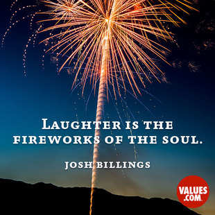 Laughter is the fireworks of the soul. #<Author:0x00007f150933a4f8>