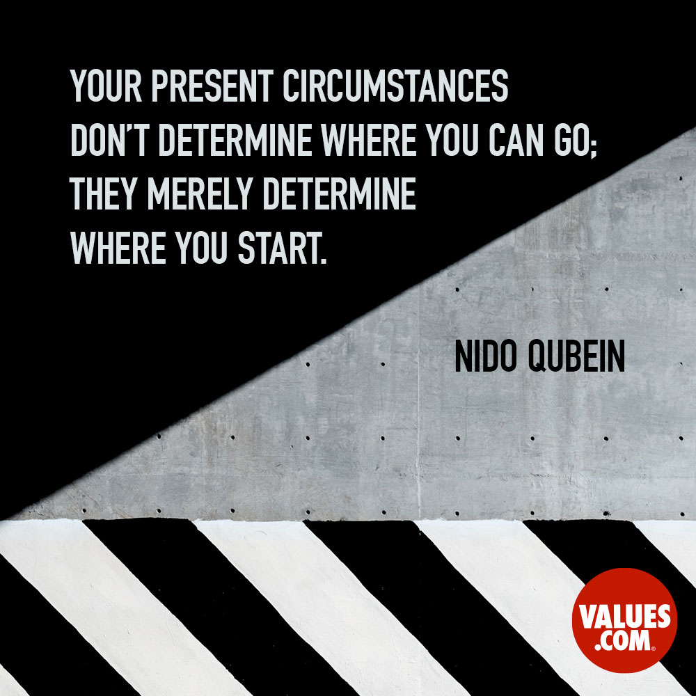 Your present circumstances don't determine where you can go; they merely determine where you start. —Nido Qubein