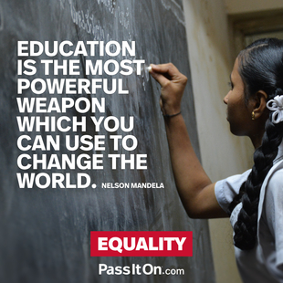 Education is the most powerful weapon which you can use to change the world. #<Author:0x00007f63d082cab8>