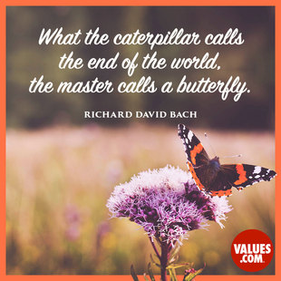 What the caterpillar calls the end of the world, the master calls a butterfly. #<Author:0x00007fbeda937e70>