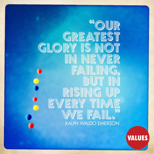 Our greatest glory is not in never failing, but in rising up every time we fail. #<Author:0x00007facc7a496d0>