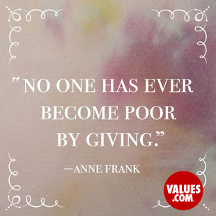 No one has ever become poor by giving. #<Author:0x000055e354e3de28>