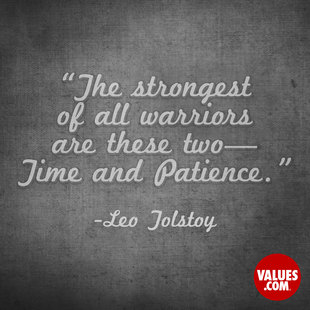 The strongest of all warriors are these two—Time and Patience. #<Author:0x00007f2efc0e2c20>
