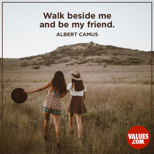 Walk beside me and be my friend. #<Author:0x00007f63d33d79d8>