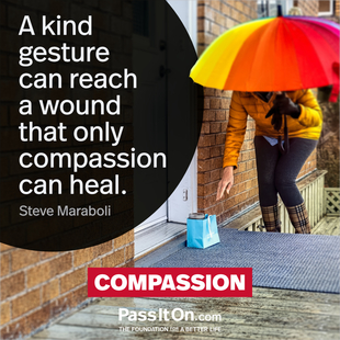 A kind gesture can reach a wound that only compassion can heal. #<Author:0x000055a4ed4b0518>