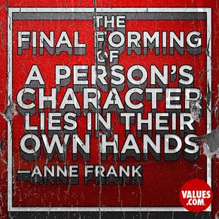 The final forming of a person's character lies in their own hands. #<Author:0x000055f9659e9bc0>
