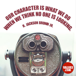 Our character is what we do when we think no one is looking. #<Author:0x00007f50a66812a0>