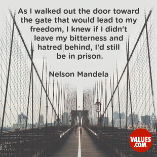 As I walked out the door toward the gate that would lead to my freedom, I knew if I didn't leave my bitterness and hatred behind, I'd still be in prison. #<Author:0x00007f14f2a16540>