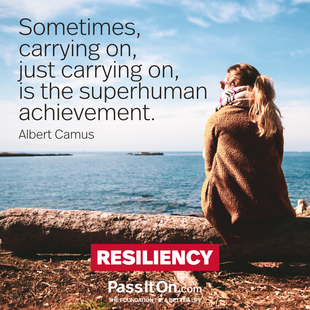 Sometimes, carrying on, just carrying on, is the superhuman achievement. #<Author:0x0000556278661c70>