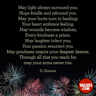May Light always surround you; 